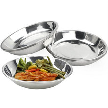 Stainless Steel Soup Plate High Quality Tableware Durable Dish Bowls,kitchen Accessories GF108(China)