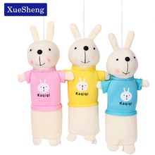 Cute Rabbit Plush Pencil Case Stationery Storage Organizer Bag School Office Supply Escolar