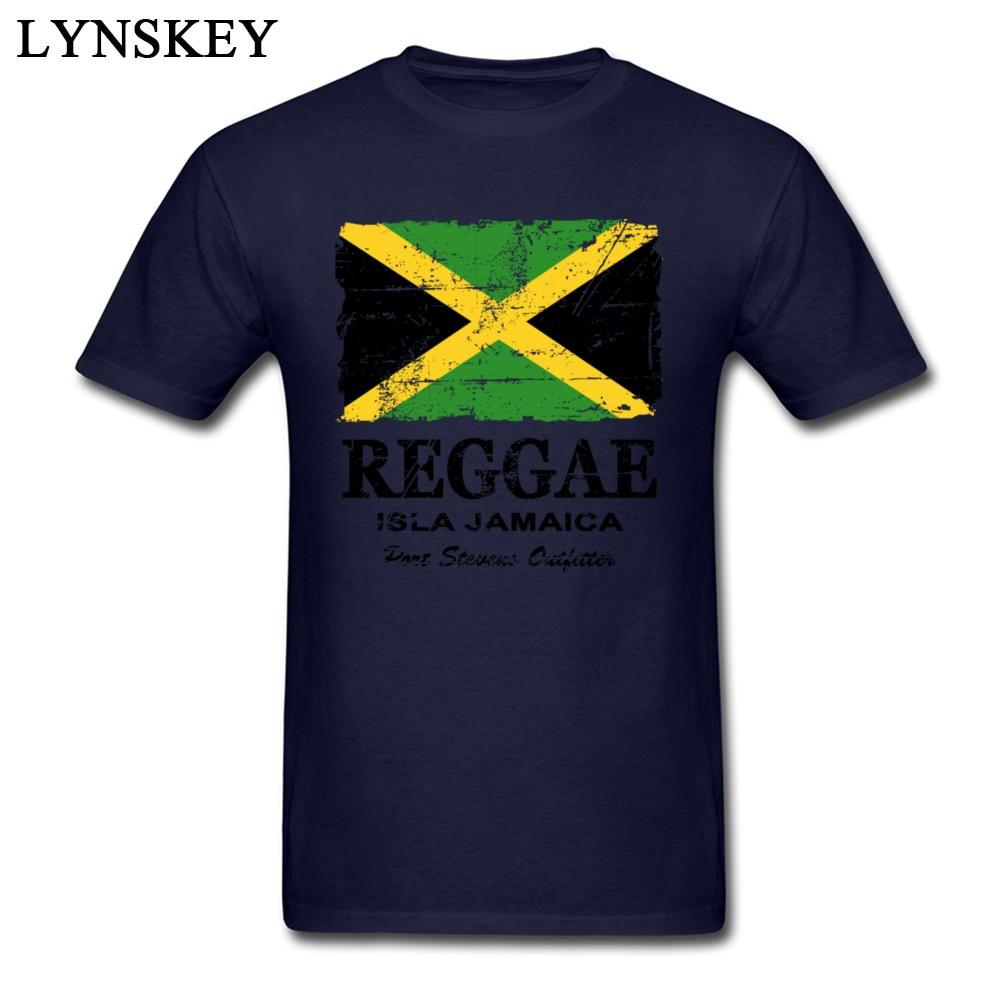 T-Shirt Normal Short Sleeve Funny Crew Neck 100% Cotton Tops T Shirt Group Summer Fall Reggae Jamaica Flag Tee Shirt for Boys Reggae Jamaica Flag navy