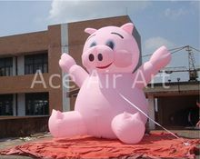 Giant Portable Advertising Pink Inflatable Pig  George  Balloon For Outdoor Decor