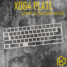 mx stainless steel plate for xd64 xd64 60% custom keyboard Mechanical Keyboard Plate support aluminum case with screw hole(China)