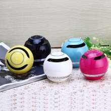 Mini Portable Wireless Bluetooth Speakers Round Subwoofer Hands-Free Indoor Outdoor Fashion Loudspeakers For Smartphone(China)