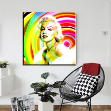 ZZ1886 modern canvas oil painting famous star pop art painting wall pictures for living room Marilyn Monroe canvas art paintings(China)