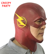 The Flash Mask Adults DC Movie Cosplay Costume Halloween Full Head Realistic Latex Party Masks (3 Colors)(China)