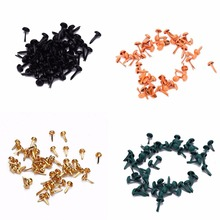 50PCS Feet Decorated Nails DIY Metal Round Decorative Nails Rotating Buttons Brads Gift Accessories Painting 8 Colors