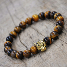 Online Shopping 10pcs men's bracelet   howlite leopard Charm Fashion New Design classic jewelry tiger eye stone