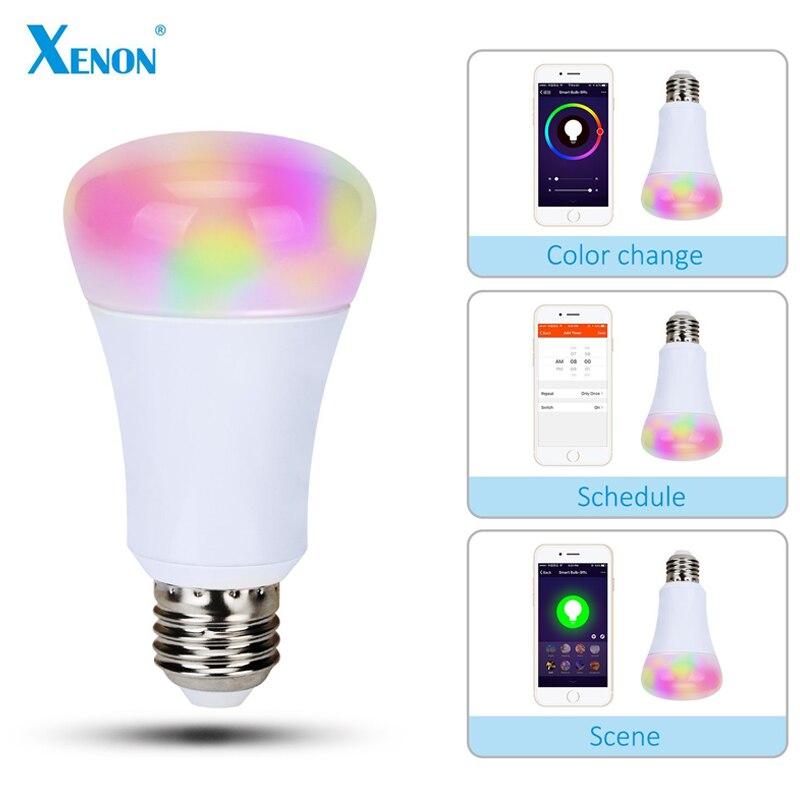 Xenon Wi-Fi Bulb Works with Amazon echo Alexa smart wreless bulb app control RGB E27 LED Lamps HOT sale Smart led Lighting Bulbs<br><br>Aliexpress