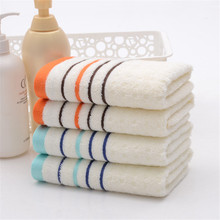 New arrival Hot Sale fashion style 34*71 cm breathable striped Face towel for adults comfortable soft high quality one piece(China)