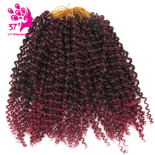 Ombre Braiding color Afro Kinky curly Hair short Synthetic Brading Hair Crochet Braids Curly Hair 10 inch