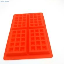 Sweettreats Safety 4 Cavity Waffles Cake Chocolate Craft Candy Soap Pan Silicone Mold Baking Mould Cooking Tools