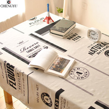 Hot Nordic modern minimalist cotton linen table cloth black white table Covers Printed Rectangular Home/Outdoor/Party