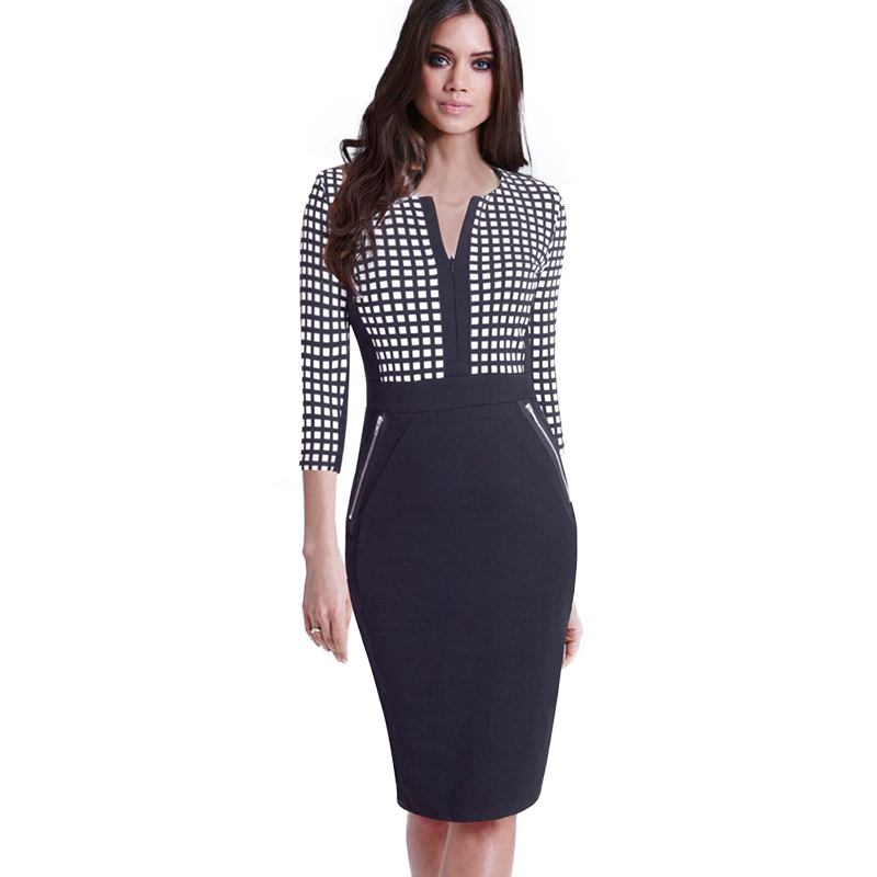 Plus Size Elegant Bodycon Pencil dress 48