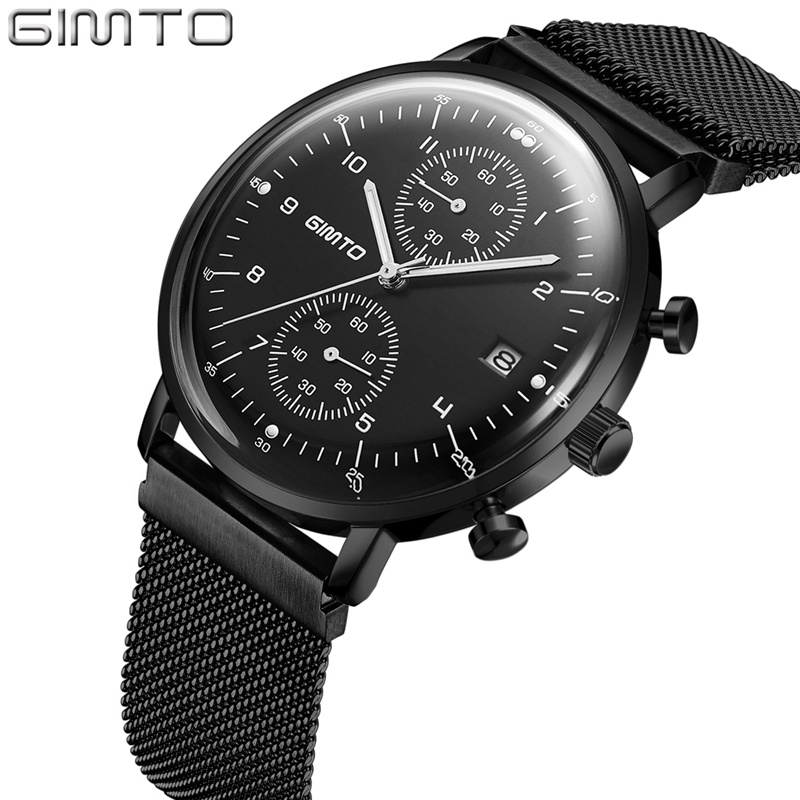 Business Brand Men Quartz Watch Magnetic Clasp Comfortable Strap Luminous Clock Calendar Military Male Waterproof Watches <br>