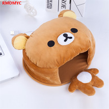RMDMYC Rilakkuma Totoro Plush Toy Cute USB Heating Winter Hand Warmer Golves Plush Mouse Pad Toys Hand Keep Warm for Kid Gifts