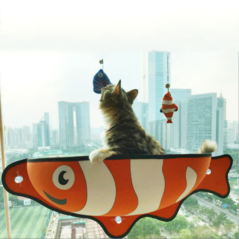 Removable Hanging Cat Hammock Kitty Kitten Pet Window Suction Cup Space Small Animal Sunbath Rest Sleeping <br>