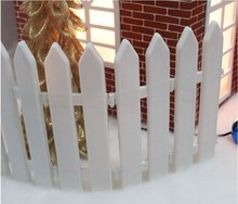10pcs/set New White plastic fence christmas outdoor decoration /christmas decorations for home wholesale