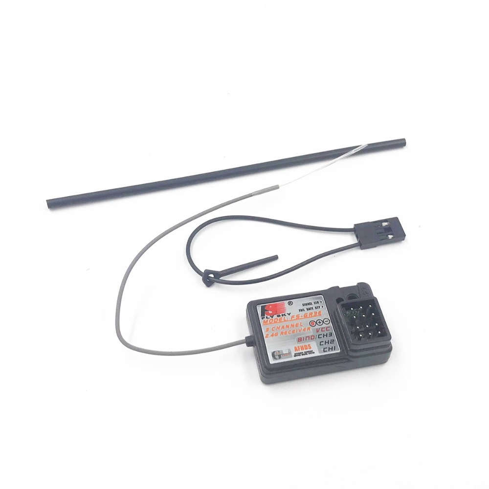 Flysky FS-GR3E 3 Channel 2.4G GR3E Receiver with Failsafe GT3B GR3C Upgrade for RC Car Truck Boat GT3 GT2 Transmitter FS(China)
