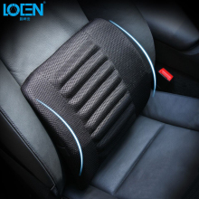 1PCS Breathable Mesh Cloth Car Seat Lumbar Cushion Pillows Soft Cotton Back Support for Car Seat and Office Chair Lumbar Support(China)