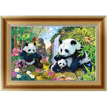 DIY 5D Diamonds Embroidery Panda Animal Round Diamond Painting Cross Stitch Kits Diamond Home decor 45*30cm Broderie Diamant