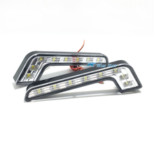 2016 New 2X 8 LED Car Daytime Running Lights Led Fog Lamp Waterproof Driving Day Light 12V 8 LED White DRL Daylight Lamp