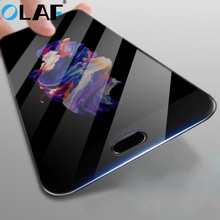 OLAF Full Cover Tempered Glass For Oneplus 5 A5000 Three 3 Color Screen Protector For One plus 3 A3000 1+ 5 Explosion Proof Film(China)