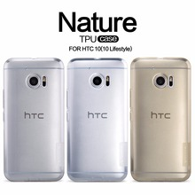 NILLKIN Ultra Thin Transparent Nature TPU Case For htc 10 Clear TPU Soft Back cover For htc 10 lifestyle (5.2'')  retail package