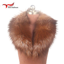 New 100% Natural Fur Collar Gold Fox Fur Collar Ring Scarf Women Genuine Fox Fur Scaves Shawls for Down Jacket Wholesale L#69