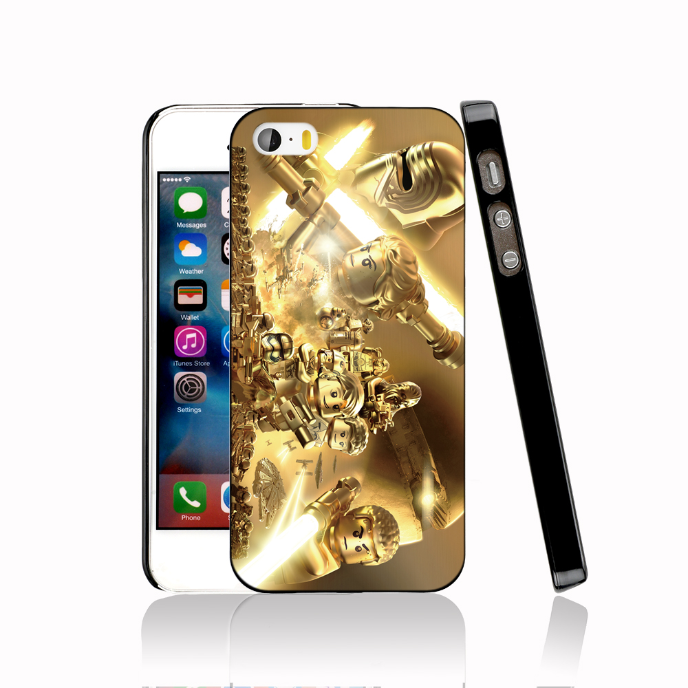 14729 Lego Star Wars GOLD protective Cover cell phone Case for iPhone 4 4S 5 5S 5C SE 6 6S Plus 6SPlus(China (Mainland))