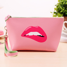 Bag women 2017 new modern girl hand carry makeup bag Fashion cartoon waterproof package 8 color ladies small wallet