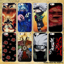 Anime Naruto vs Sasuke design transparent clear Case Cover for Apple iPhone 6 6s Plus 7 7Plus SE 5s 5 4s(China)