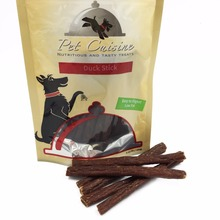2016 New Pet Cuisine Natural Dog Treats Puppy Chewy for Small Dogs, Duck Jerky Sticks, 100g*2(China)