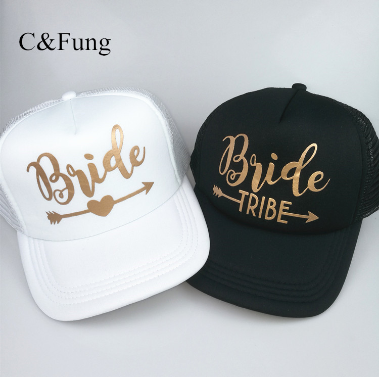 C Fung New Bride Tribe Snapback Hat Bride To Be Golden Arrow Hats ... 2229e17e637
