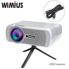 "Wimius LED Projector 4""LCD 1200 Lumens Home Cinema Theater Full HD 1080P Beamer Proyector Video Projetor Dustproof For XBOX TV"