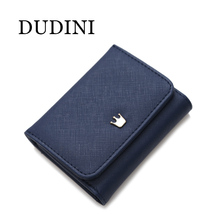 DUDINI Wallets Female New Crown Lady PU Leather Short Women Mini Money Purses Fold Bags Coin Card Holder