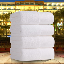 Five-star hotel pure white cotton towel thick bath towel super soft strong absorbent towel spa /Beauty salon/resturant supplies(China)