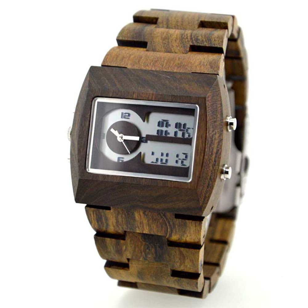 2018 New Hot sale  pearl bracelet  pendant Wristwatch Wood Watch Quartz with Date + Box Mens Natural Wooden Hot Clock<br>