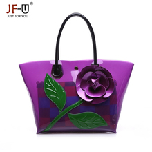 JF-U 2017 New Bags handbags women famous brands women Plastic handbag women messenger bags flowers shoulder bag Bolsas Feminina