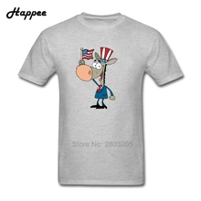 XS XXXL Men's T Shirt Patriotic Donkey 100% Cotton Top Men Short Sleeve Oversize Tee For Men Simple Style T-Shirt Cheap Clothing