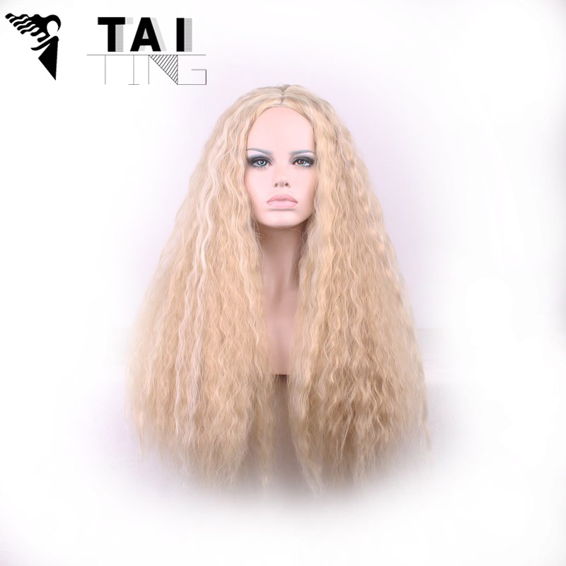 70cm Blond Sex Products Synthetic Hair Braid Hair Wig Wavy Hairstyle Natural Lace Front Wigs For Women Sinteticas Perruque<br><br>Aliexpress