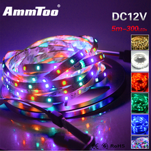 5M/Roll 3528 RGB LED Strip DC12V fita de led 300leds Flexible Ribbon Tape Led Lamp Light for Ceiling Bar Counter Cabinet
