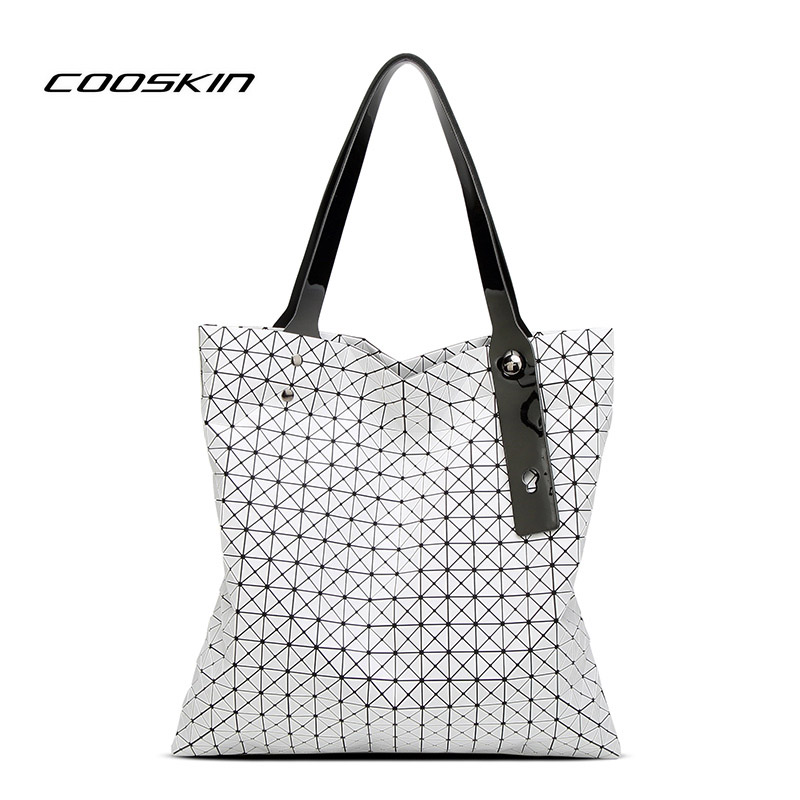 Cooskin Hot Sale 2017 Geometry Sequins Folding handbag Women Shoulder Messenger Bag bao bao bag luxury handbags women bags <br>