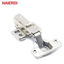 4PCS NAIERDI 40MM Cup Furniture Hinge Rustless Iron Hydraulic Hinges For Damper Buffer Cabinet Cupboard Door Soft Close Hardware(China)