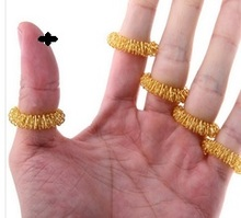 Hot Sale Finger Massage Sujok Ring Acupuncture Ring Health Care Body Massage Chinese Medicine color gold and silver