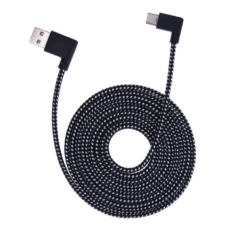 0.2/1/2m L Shaped Connector USB Type-c Charging Cable 90 Degree Angle Nylon Braided Type C Data Sync Transfer Cord Wire Line