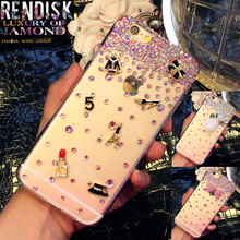 Fashion Diamond Bow Rhinestone Case Jewelled Bling cover For Samsung Galaxy J2 2015 J200 Crystal cases