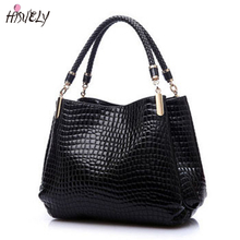 2017 New Fashion Leather bolsas femininas Women Bags Shoulder Bag Female Tote Sac Crocodile Bag messenger bags BAG5091 Hot Sale