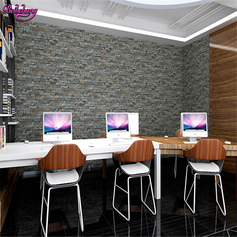 beibehang 3D stereo retro small brick Chinese restaurant bar clothing shop brick wall wallpaper nostalgia papel de parede  <br>