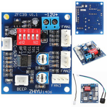 DC 12V PWM PC CPU Fan Temperature Control Speed Controller CPU High-Temp Alarm