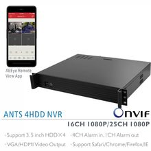 ANTS 1.5U Rack Mount 16CH/25CH1080P NVR Supports 4 pieces 3.5 inch HDD, 4CH Alarm in with AEEYE Samrtphone Remote View App.(China)