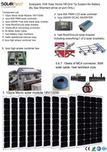 Boguang Solarparts Seriers 1x 1000W Solar Home off-grid tie systems sea shipment 10pcs 100W mono solar modules bracket controler